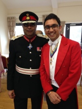 Mr. Paul Sabapathy CBE, Her Majesty's Lord-Lieutenant of West Midlands with the Asian Toastmaster
