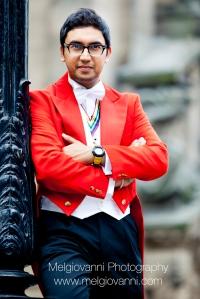 Raaj Shamji, Asian Toastmaster outside Walsall Council House