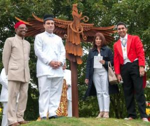 Dr Rao, Balaji Temple, Lord Bilimoria, Kashmira Cooke (Freddie Mercury's sister) and the Asian Toastmaster