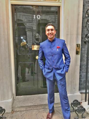 raaj shamji host asian toastmaster mc downing st